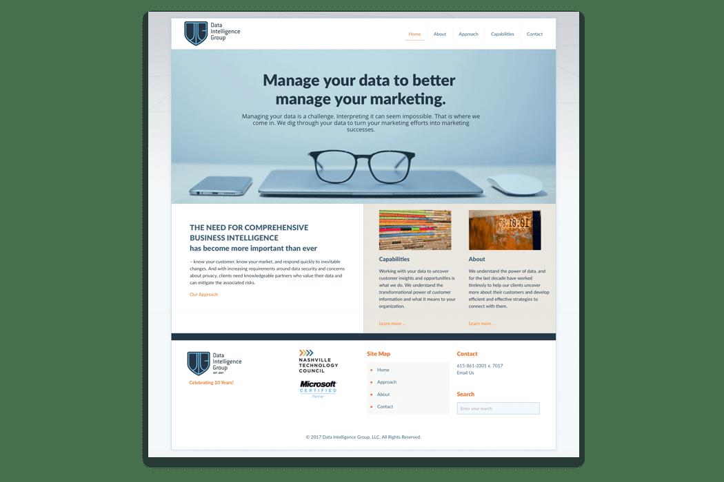 Data Intelligence Group Website Design
