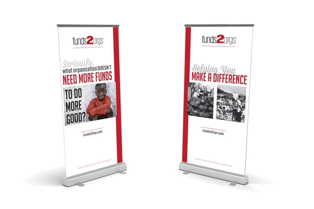 Funds2Orgs Pull Up Banners
